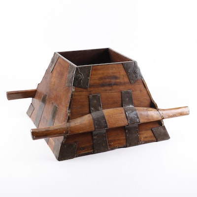 Chinese Rosewood Rice Bucket, Daoguang Mark and Period