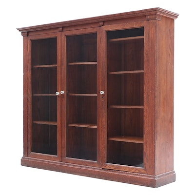 Oak Colonial Revival Cabinet