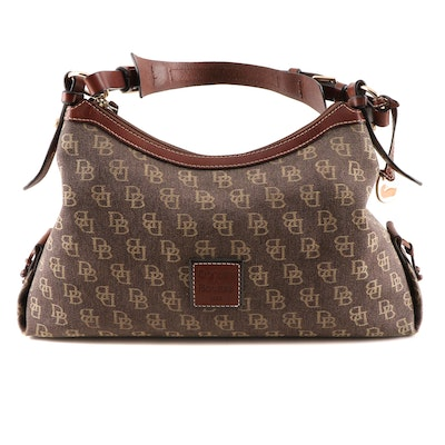 Dooney & Bourke Signature Canvas and Leather Hobo Bag