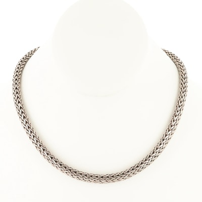 Sterling Silver Wheat Chain Necklace