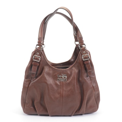 Coach Maggie Madison Brown Leather Shoulder Bag