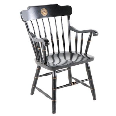 Purdue University Black-Painted Armchair