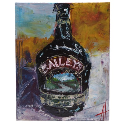 """Anne Thouthip Acrylic Painting """"Baileys"""""""