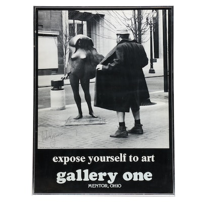 "Gallery One Poster with Mike Ryerson Autograph ""Expose Yourself to Art"""