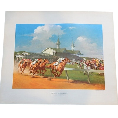 "Offset Lithograph after Haddon Sundblom ""The Kentucky Derby"""
