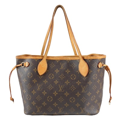 Louis Vuitton Paris Neverfull PM Tote in Monogram Canvas and Vachetta Leather
