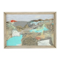 E. Collier Mixed Media Painting