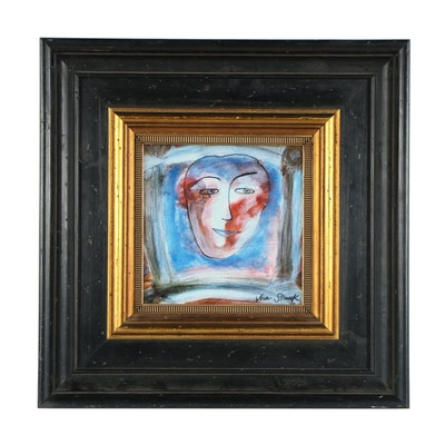 Vera Struck Giclee of Contemporary Portrait
