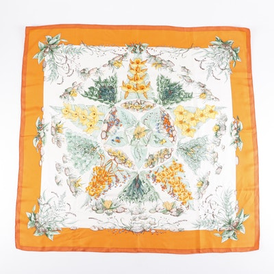 "Hermès of Paris ""Pythagore"" Silk Scarf Designed by Zoé Pauwels"