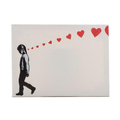 "Madderdoit? Acrylic Painting and Sticker  ""Depression Kills"""