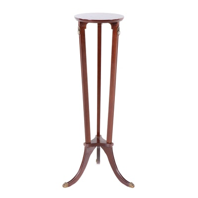Bombay Company Duncan Phyfe Style Mahogany Plant Stand Table