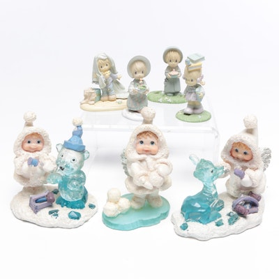 "Dreamsicles Northern Lights Figurines Including ""Powder Puff"" and ""Crystal Deer"""