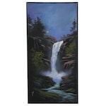 "Douglas ""Bumo"" Johnpeer 2019 Oil Painting ""Miliken Creek Falls"""
