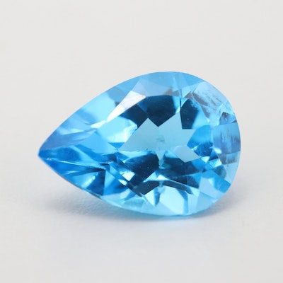 Loose 12.90 CT Blue Topaz Gemstone