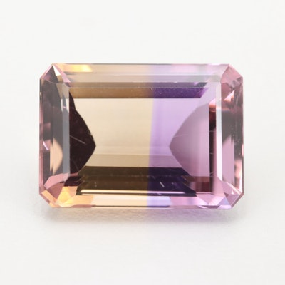 Loose 14.65 CT Ametrine Gemstone