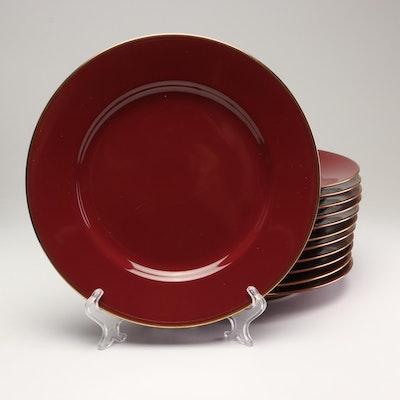 """Fitz and Floyd """"Pavillon"""" Plum Porcelain Plates"""