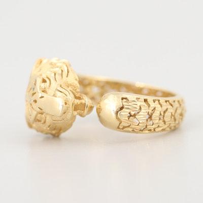 14K Yellow Gold Tiger Ring