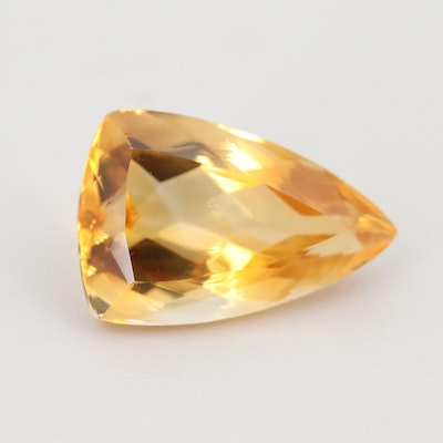 Loose 13.02 CT Citrine Gemstone