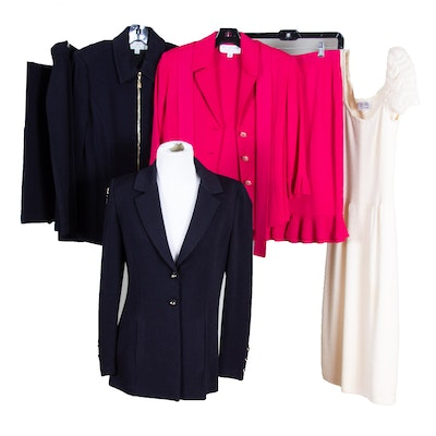 St. John Vintage Dress, and Other St. John Brand Knit Skirt Suits and Separates