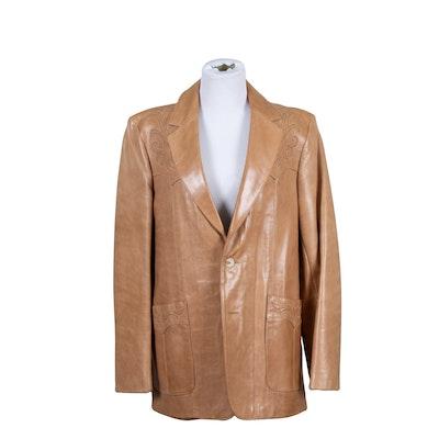 Scully Light Tan Western Style Men's Jacket