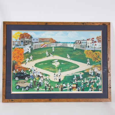 "Offset Lithograph ""Take Me Out To the Ballgame"""