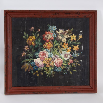 Floral Still Life Offset Lithograph