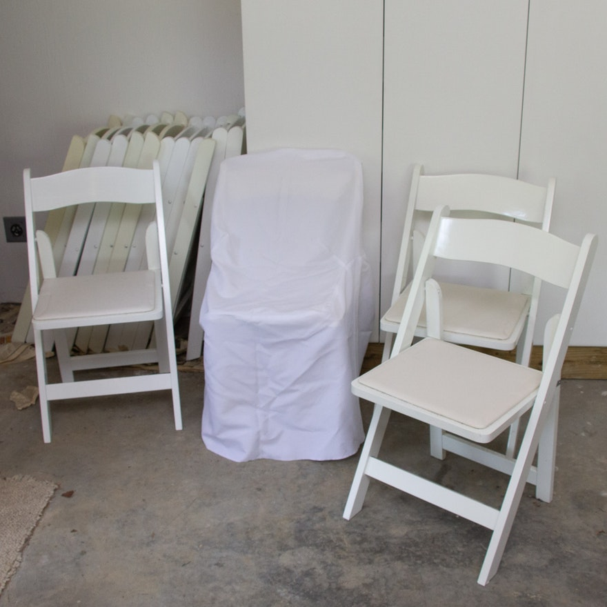 Wooden Folding Chairs and Covers