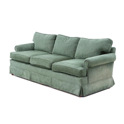 Contemporary Green Upholstered Sofa