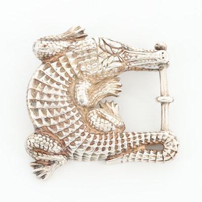 Vintage B Kieselstein-Cord Sterling Silver Alligator Converter Buckle