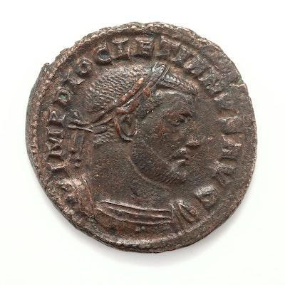 Ancient Rome Diocletian AE Follis Coin, Circa 303-305