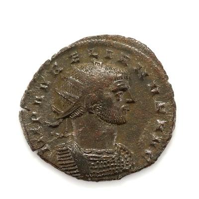 Ancient Rome Aurelian AE Antoninianus Coin, Circa 272-274