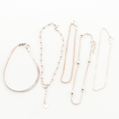 Sterling Silver Anklets and Bracelets