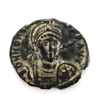 Ancient Rome Honorius AE3 or AE4 Follis Coin, Circa 401-403