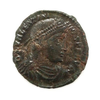 Ancient Rome Valentinian I AE3 Follis Coin, Circa 364-375 AD