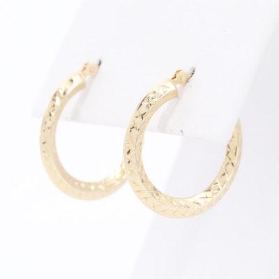 14K Yellow Gold Hoop Earrings
