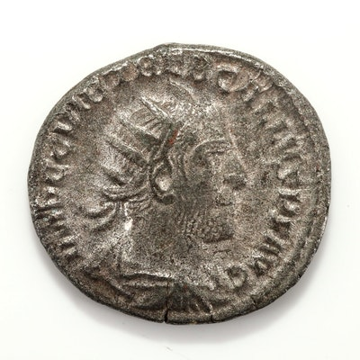Ancient Rome Trebonianus Gallus AR Antonianius Silver Coin, Circa 253 AD