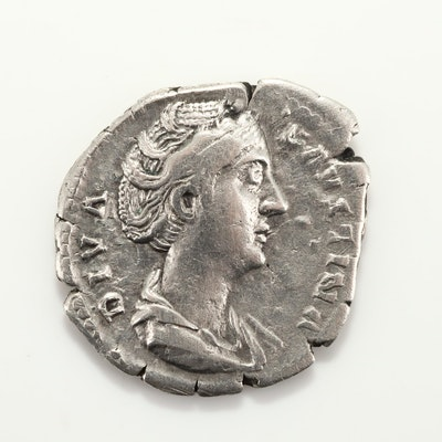 Ancient Rome Faustina I Silver AR Denarius