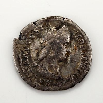 Ancient Rome Sabina Silver Denarius Coin, Circa 117-135 AD