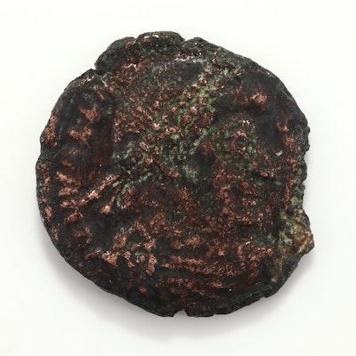 Ancient Roman Valens AE3 Coin, Circa 364-365