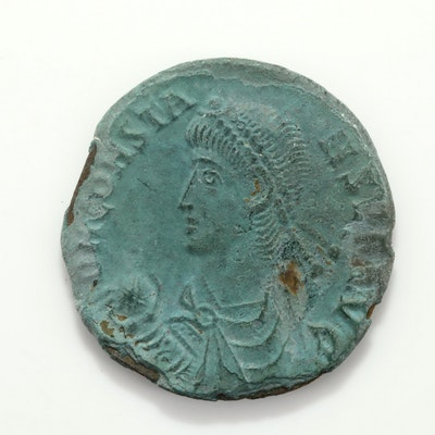 Ancient Rome Constans AE2 Follis Coin, Circa 348-350 AD