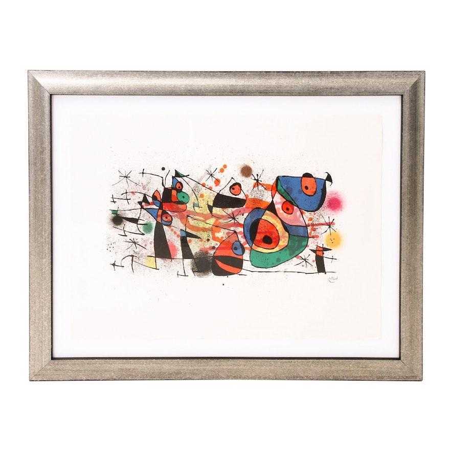 """Joan Miró Color Lithograph """"Céramiques"""""""