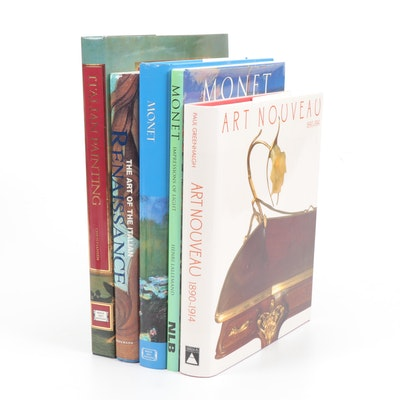 Art Books on Italian Renaissance, Monet and Art Nouveau