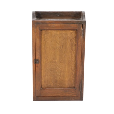 Primitive Pine Wall Cupboard, Early 20th Century