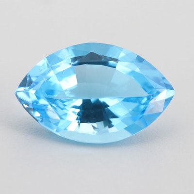 Loose 18.57 CT Blue Topaz Gemstone
