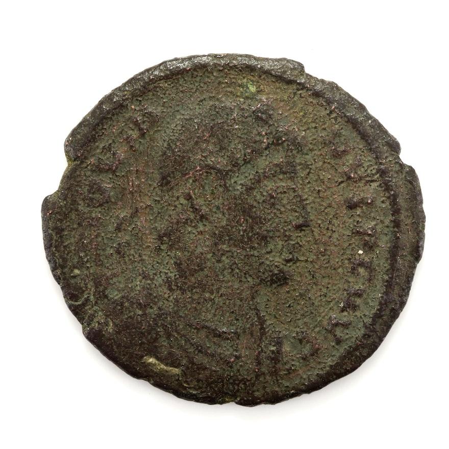 Ancient Rome Jovian AE20 Follis Coin, Circa 363-364