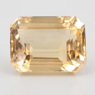 Loose 22.64 CT Citrine Gemstone
