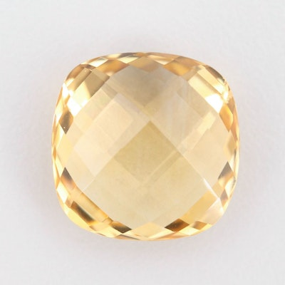 Loose 12.55 CT Citrine Gemstone