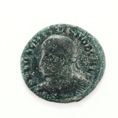 Ancient Rome Crispus AE3 Follis Coin, Circa 324 AD