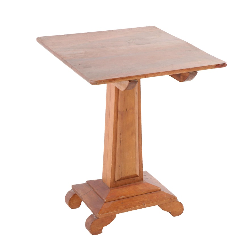 American Empire Cherry Tilt-Top Table, Early 20th Century