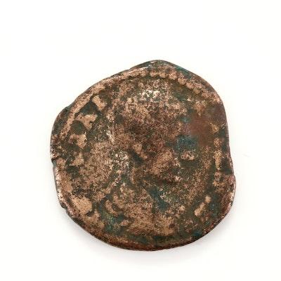 Ancient Rome Markianopolis Diadumenian AE16 Assarion Coin, Circa 217-218 AD